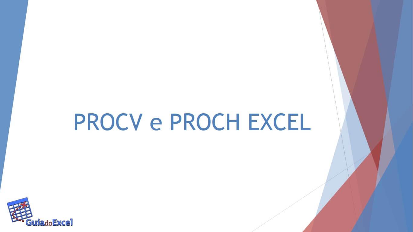 Procv e Proch Excel