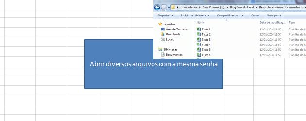 Abrir vários arquivos com a mesma senha Excel
