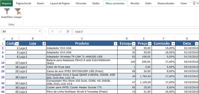 AutoFiltro Excel – Filtrar dados automaticamente no Excel