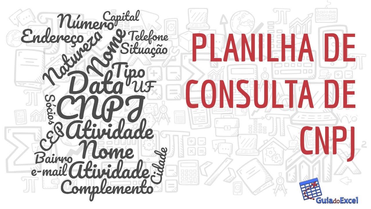 Planilha de consulta de CNPJ automática