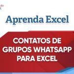 Contatos de grupos do WhatsApp para Excel
