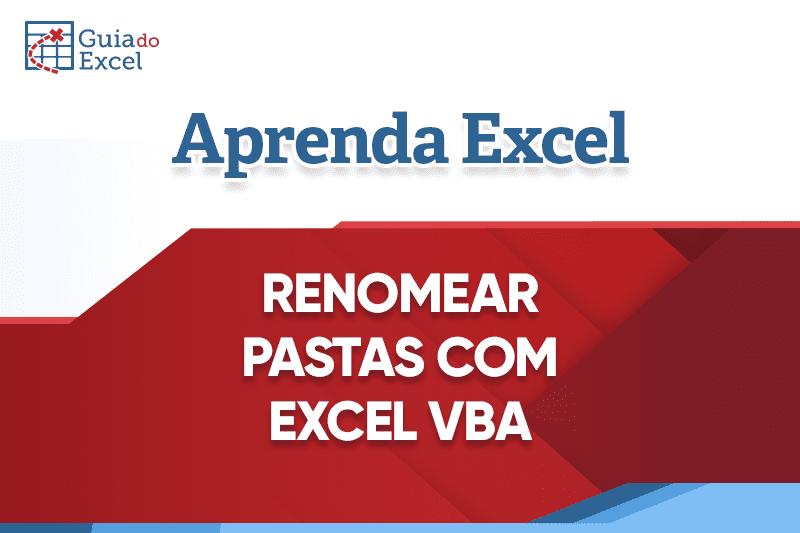 Renomear Pastas VBA Excel Planilha Grátis