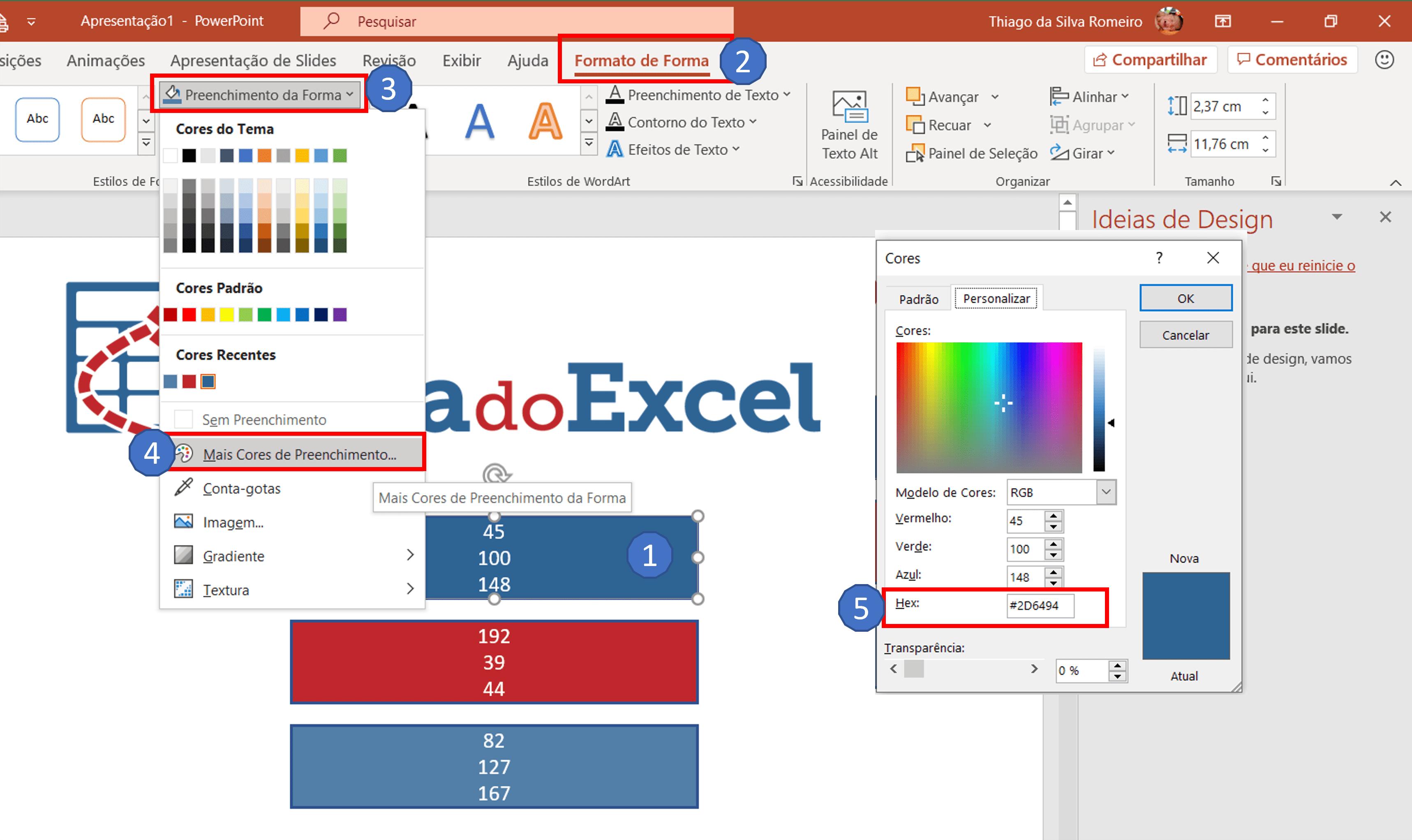 escolher cores dashboard 11