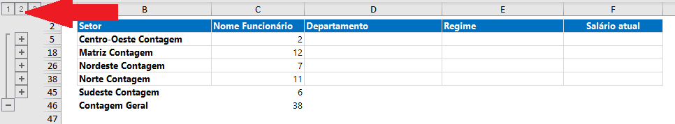 Como agrupar dados no Excel - Estrutura de Tópicos 9